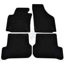 4 TAPIS SOL MOQUETTE NOIR SPECIFIQUE SEAT LEON 2 1P 2005-2012 TOUS MODELES