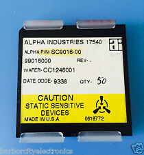 SC9016-00 ALPHA INDUSTRIES CAPACITOR CHIP RF MICROWAVE PRODUCT 50/units total