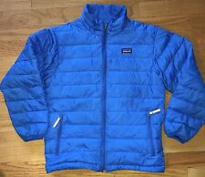 Patagonia Down Jacket Coat - Youth Boys Size M Medium/10 Royal Blue *As Is Read*