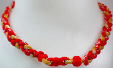 """NEW 20"""" Custom Clasp Braided Sport Red Gold Twisted Tornado Necklace 49ers"""