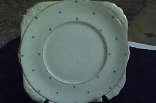 Rare Vintage Royal Grafton Fine Bone China Cake Plate 26cm Polka Dot #6883.1950s