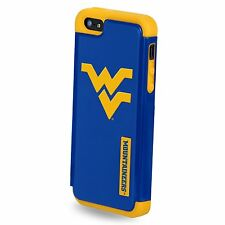 For Apple iPhone 5 / 5s West Virginia Mountaineers NCAA Dual Hybrid 2 Piece Case