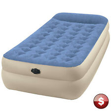 INTEX TWIN Raised AIR BED MATTRESS Inflatable Blow Up Sleeper Portable Camping