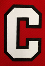 "CHICAGO BLACKHAWKS CAPTAINS ""C"" SEWN PATCH FOR HOME RED JERSEY TOEWS"