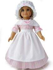 """Doll Clothes AG 18"""" Elizabeth Colonial Dress Made To Fit American Girl Dolls"""