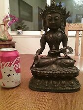 Large Antique Old Chinese  Bronze sakyamuni Buddha statue