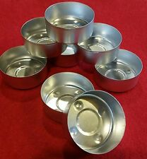 50 Aluminum Tealight Cups w/Wicks Metal Containers  New