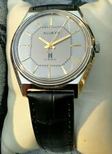 Allwyn, Collector's Watch Hand Winding Mechanical Gray Dial Classic Vintage Look
