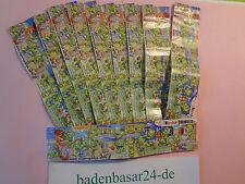 Komplettsatz Beipackzettel, Super Spacys mit www, 10 Beipackzettel