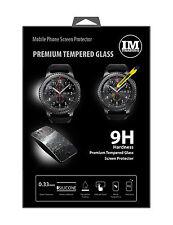 Schutz Glas Zubehör Panzer Display Folie Glaß Watch @COFI für Samsung Gear S3