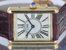 Cartier Tank Ladies Watch Must de Cartier Gold Plated Silver Quartz Watch w/ Box