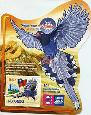 Mozambique 2015 MNH Taiwan Blue Magpie Taipei 2015 Stamp Exhibition 1v S/S Birds