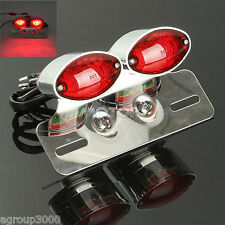 Chrome Turn Signals Brake Tail Light For Kawasaki Vulcan Classic Custom 900