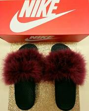 Custom Nike Faux Fur Slides