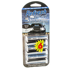 Refresh Auto Vent Sticks Car Air Freshener 6 Sticks, Midnight Black/Ice Storm