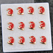 wholesale 6 pairs lovely Christmas hats earrings gift ED197