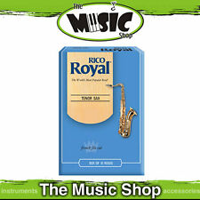 New Rico Royal 3 Strength Tenor Saxophone Reeds - Box of 10 -  Sax Reed