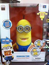 DESPICABLE ME 2 MINION TIM Singing ACTION FIGURE 8 inch instock US Version