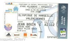 Billet / Place Olympique de Marseille - OM vs Valenciennes - 2011 ( 020 )