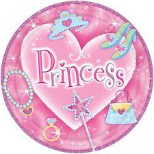 8 x  Prinzessin Pappteller zur PRINZESSIN PARTY -