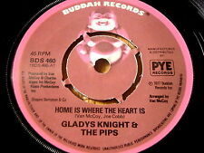 """GLADYS KNIGHT & THE PIPS - HOME IS WHERE THE HEART IS   7"""" VINYL"""