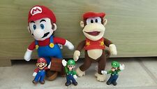 Super Mario and Donkey Kong Monkey  Soft Cuddly Toys & Luigi and Mario Figures