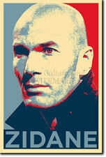ZINEDINE ZIDANE art photo print (Obama Hope) Poster Cadeau