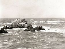 "1916 SAN FRANCISCO'S ""SEAL ROCKS"" FROM CLIFF HOUSE~ANTIQUE PHOTOGRAPHIC NEGATIVE"