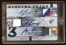 TRIPLE PATCH AUTO /10 AARON RODGERS-PEYTON MANNING-ELI MANNING 2009 UD 5 SB'S ++