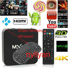 US MXq S905 Pro Android 5.1 Wifi HDMI Fully Loaded Smart TV Box With Keyboard