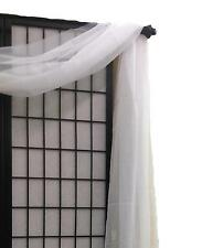 "Simple Sheer Valance Scarf Voile Window Treatment 216"" Long Over 20 colors"