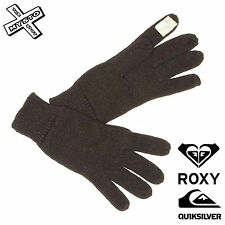 QUIKSILVER ROXY 'TRUE BLACK' WOMENS GLOVES KNITTED TOUCHSCREEN SMART PHONE BNWT