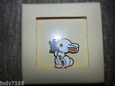 HALLMARK 1983 Cloisonne Pin Back BUNNY RABBIT Easter BROOCH Vintage TIE TAC New