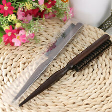 Natural Boar Bristle Hair Brush Fluffy Comb Hairdressing Barber Tool Wood Handle