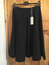 BNWT's Toast Ros Wool Navy Full Skirt UK Size 12 Cost £125