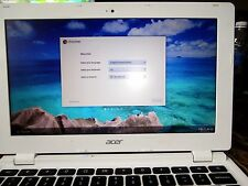 Acer 11.6‑inch Chromebook (CB3‑111‑C670) Moonstone White