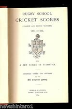 #DD. RARE BOOK - RUGBY SCHOOL CRICKET SCORES 1831 TO 1893
