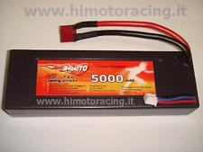 BATTERIA LIPO 5000 mAh 7,4V burst 50C disch 25C 2S AUTO BARCHE HARDCASE HIMOTO