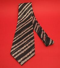 Music Gift Black Manuscript Design Men's Tie Musician Teacher Choir Xmas Gift