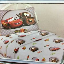 Disney Pixar Cars FULL Sheet Set Double Bed 4 Piece Grey New