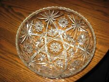 WOW! VTG Large EAPC Salad Bowl Anchor Hocking STAR of DAVID Pressed Glass VGC