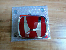 HONDA RED H TYPE R FRONT GRILL BADGE EMBLEM X 1 CIVIC EP2 EP3 92mm 2000-2003