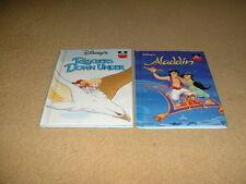 2 x Disney Picture books, Aladdin & Rescuers down under