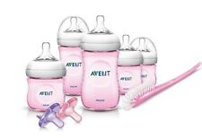 Philips Avent BABY BOTTLES, BPA Free Natural Infant Starter BOTTLE SET, Pink