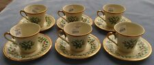 SIX Lenox Holiday Gold Dimensions Cup and Saucer Sets 1st Quality NEW W/ Labels