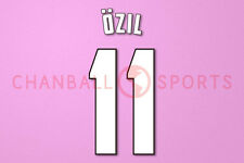Ozil #11 2013-2014 Arsenal FA Cup Final Homekit Nameset Printing