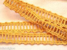 MERCERIE galon gance dentelle JAUNE 1.mx15mm §§ RUBBON lace