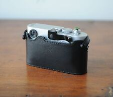 Zhou Black Leather Half Case w/o LCD CutOut f/ Leica M8 M9 M9P w/ Thumbs Up Grip