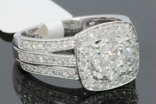 10K WHITE GOLD 1.10 CARAT WOMEN REAL DIAMOND ENGAGEMENT RING WEDDING RING BRIDAL