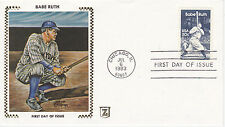 Z ZASO SILK CACHET FIRST DAY COVER FDC - 1983 BABE RUTH BAMBINO BASEBALL BR-1